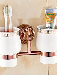 Porta spazzolini Gadget per il bagno / Oro Neoclassico