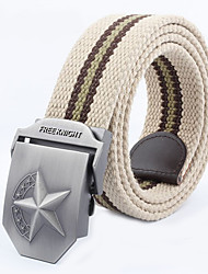 Masculino Cinto para a Cintura Vintage / Casual Liga Lona Masculino