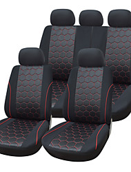 cheap -5 Seats Universal Car Seat Cover Textile Material Vehicle Seat Coler (9 pcs per kit)