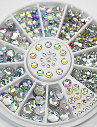 cheap -Nail Art 1.5mm Rhinestones Glitter Diamond Gems 3D Tips Decoration Wheel