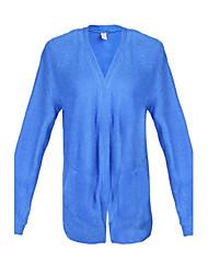 preiswerte -Informell V-Ausschnitt - Langarm - FRAUEN - Tops & Blusen ( Baumwolle / Strickware )