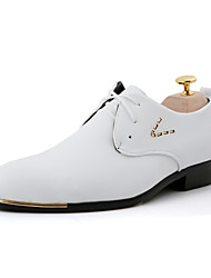 cheap -Men's Shoes Office & Career/Party & Evening/Casual Fashion PU Leather Oxfords Shoes Black/White 38-43