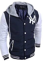 mildness Men's Hoodie Coats & Jackets , Cotton Blend Long Sleeve Casual Pocket Winter