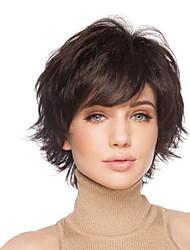 billige -Human Hair Capless Parykker Menneskehår Bølget Lågløs Paryk