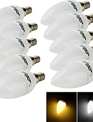 cheap -E14 LED Candle Lights C35 10 SMD 2835 200 lm Warm White Cold White 3000/6000 K Decorative AC 220-240 V