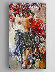 baratos -pintura a óleo de uma lona pintada mulher impressão mão esticada com emoldurado