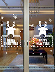 Free Shipping - Window Stickers Window Decals Style New Christmas Snowflake Deer Window Glass Decoration PVC Window stickers