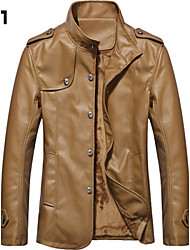 cheap -Men's Chic & Modern Jacket-Solid Colored,Modern Style