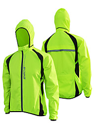 Cycling Jacket Unisex Bike Windbreakers Jacket Waterproof Rain-Proof Terylene Patchwork Camping / Hiking Fishing Exercise & Fitness