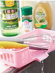 prateleiras pia da cozinha de drenagem PP cor aleatória