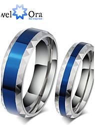 Anéis Fashion Pesta Jóias Aço Feminino Anéis Grossos 1pç,Tamanho Único Azul