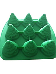 Christmas Tree 3D Silicone Chocolate Pudding Sugar Ice Cake Mold Color Random