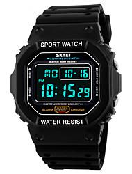 cheap -SKMEI Men's Wrist watch Sport Watch Digital Alarm Calendar / date / day Chronograph Water Resistant / Water Proof Sport Watch LED PU Band