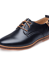 cheap -Men's Novelty Shoes Faux Leather Spring / Summer / Fall Comfort Oxfords Slip Resistant Black / Brown / Blue / Wedding / Party & Evening