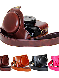 abordables -dengpin® pu cas caméra sac en cuir couvrir avec bandoulière pour sony dcs-RX100 m4 RX100 iv (couleurs assorties)