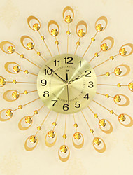 cheap -Modern Creative Fashion Metal Glass Mute Digital Wall Hanging Clock