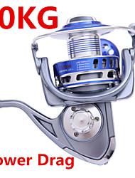 Molinetes de Pesca Molinetes Rotativos 4.7:1 9 Rolamentos TrocávelPesca de Mar / Rotação / Pesca de Gancho / Pesca de Água Doce / Pesca