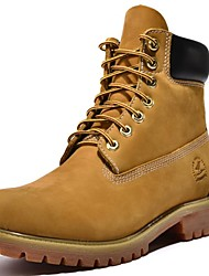 Men's Shoes Nappa Leather Outdoor / Work & Duty / Casual Boots Outdoor / Work & Duty / Casual Chunky Heel Yellow/Taupe