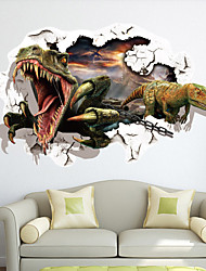 Dyr / Fashion / fantasi / 3D Wall Stickers 3D mur klistermærker , Vinyl stickers 87*56cm