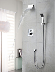 cheap -Shower Faucet - Contemporary Chrome Wall Mounted Ceramic Valve