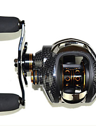 cheap -Baitcasting Reel 6.3:1 Gear Ratio+14 Ball Bearings Left-handed Sea Fishing Bait Casting Ice Fishing Jigging Fishing Freshwater Fishing
