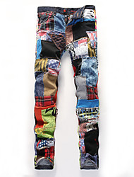 cheap -Men's Print / Striped / Plaids & Checks Sleeveless Pant , Cotton Casual / Work / Sport / Plus Sizes  ailanting