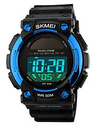 levne -SKMEI Pánské Sportovní hodinky Náramkové hodinky Digitální Z umělé kůže Černá 50 m Voděodolné Alarm Kalendář Digitální Černá Červená Modrá / Chronograf