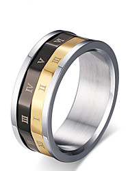 cheap -Men's Band Ring - Titanium Steel Fashion 6 / 7 / 8 Silver For Wedding / Party / Daily
