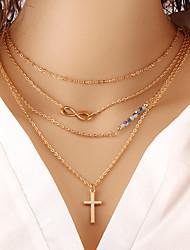 billiga -Dam Lager Halsband - Oändlighet damer, Mode Guld Halsband Smycken Till Speciellt Tillfälle, Födelsedag, Gåva