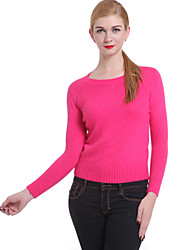 cheap -Women's Vintage Pullover - Solid Colored