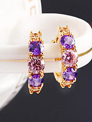 cheap -Women's Stud Earrings Hoop Earrings - Fashion Purple Screen Color Earrings For Daily