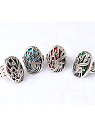 New Vintage Jewelry Women's Turquoise Music Note Rhinestone Ring