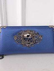 Women PU Bi-fold Clutch / Wallet - Blue / Gold / Red / Silver / Black