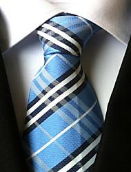 cheap -Men's Vintage Cute Party Work Casual Polyester Necktie Plaid