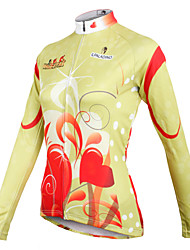cheap -ILPALADINO Women's Long Sleeves Cycling Jersey - Light Yellow Bike Jersey, Quick Dry, Breathable