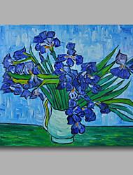 baratos -Pintados à mão Abstrato Floral/Botânico Horizontal, Modern Tela de pintura Pintura a Óleo Decoração para casa 1 Painel