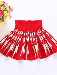 Vestito Girl Casual Con stampe Lana Inverno / Primavera / Autunno Nero / Rosso