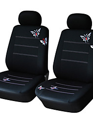 cheap -AUTOYOUTH Pair Bucket Butterfly Embroidered Car Seat Cover Universal Fit Most Car Covers Accessories Seat Covers
