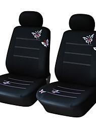 par balde borboleta bordado tampa do assento de carro universal ajuste mais carro cobre tampas acessórios de assento