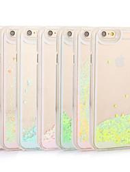 scintillio fresco bling cuore sabbie mobili dinamica liquido chiaro caso copertina rigida per iPhone 6S 6 Plus