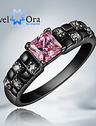 cheap -Women's Cubic Zirconia / Gold Plated Band Ring - Fashion Pink / Screen Color Ring For Party