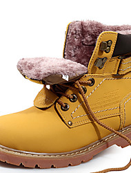 cheap -Unisex Shoes Cowhide Fall / Winter Cowboy / Western Boots / Snow Boots / Fashion Boots Boots Yellow / Light Brown / Motorcycle Boots