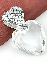 Men's Women's Pendants Gem Silver Plated Topaz Heart Heart Jewelry Wedding Party Daily Casual Sports 1pc
