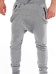 Men's Mid Rise Stretchy Harem Relaxed Sweatpants Pants,Simple Active Harem Relaxed Sweatpants Solid