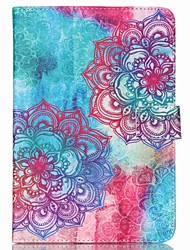 cheap -147 Case Cover with Stand Pattern Full Body Case Flower PU Leather for iPad Air