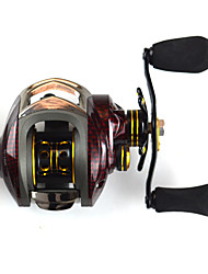 cheap -Baitcasting Reels 6.3:1 Gear Ratio+14 Ball Bearings Right-handed Sea Fishing Bait Casting Ice Fishing Jigging Fishing Freshwater Fishing