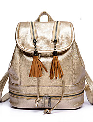 Women Bags PU Backpack Sports & Leisure Bag School Bag Travel Bag for Casual Sports Outdoor All Seasons Gold Black Silver Brown