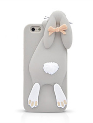 cheap -For iPhone 7 Plus 3D Cartoon Bunny Silicone Back Case for iPhone 6s 6 Plus