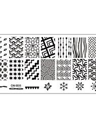 preiswerte -5 pcs Nail Schmuck Stempelplatte Nagel Kunst Maniküre Pediküre Alltag Blume / Modisch / Nagelschmuck / Metal