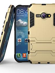 رخيصةأون -SHI CHENG DA غطاء من أجل Samsung Galaxy حالة سامسونج غالاكسي ضد الصدمات / مع حامل غطاء خلفي درع الكمبيوتر الشخصي إلى J1 Ace